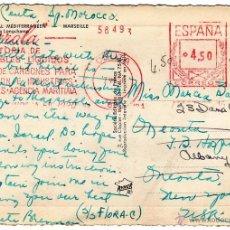 Sellos: FRANQUEO MECANICO IBARROLA CEUTA 1956. TARJETA POSTAL PALACIO DE MARSELLA. MUY BONITA Y RARA.. Lote 49103851