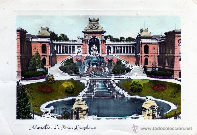 Sellos: FRANQUEO MECANICO IBARROLA CEUTA 1956. TARJETA POSTAL PALACIO DE MARSELLA. MUY BONITA Y RARA. - Foto 2 - 49103851