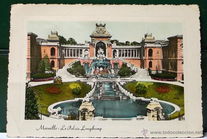 Sellos: FRANQUEO MECANICO IBARROLA CEUTA 1956. TARJETA POSTAL PALACIO DE MARSELLA. MUY BONITA Y RARA. - Foto 4 - 49103851