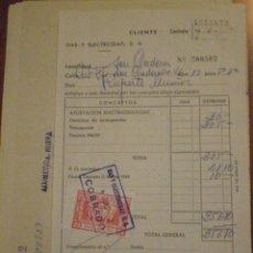 Sellos: 1972 PALMA SELLO FISCAL DONATIVO 5 PTS MONTEPIO GAS ELECTRICIDAD CON SU CONTRATO. Lote 49166996