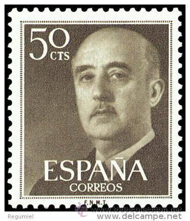 ESPAÑA AÑO 1955 EDIFIL 1149 ** MNH - GENERAL FRANCO - 50 CTS - SELLO NUEVO SIN SEÑAL DE FIJASELLOS (Sellos - España - II Centenario De 1.950 a 1.975 - Nuevos)