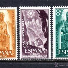 Sellos: ESPAÑA 1192/94** - AÑO 1956 - AÑO JUBILAR DE MONTSERRAT. Lote 179338226