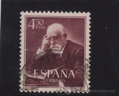 ESPAÑA . Nº ED 1120 º 4,50 PTS FERRÁN AÑO 1952 USADO ..... VALOR CLAVE DE LA SERIE 11119/20 (Sellos - España - II Centenario De 1.950 a 1.975 - Usados)