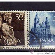 Sellos: ESPAÑA AÑO 1954 EDIFIL Nº 1130/31 - USADO (O) - USED (O) - AÑO SANTO COMPOSTELANO. Lote 125424022
