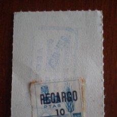 Sellos: 1967 SELLO FISCAL MUTUALIDAD NACIONAL PREVISION AGRARIA 50 PTS SOBRECARGA RECARGO 10 PTS. INP. Lote 49621329