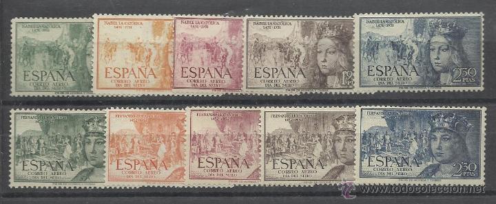 SERIES DE ISABEL Y FERNANDO AEREAS 1951/52 NUEVAS PERFECTAS (Sellos - España - II Centenario De 1.950 a 1.975 - Nuevos)
