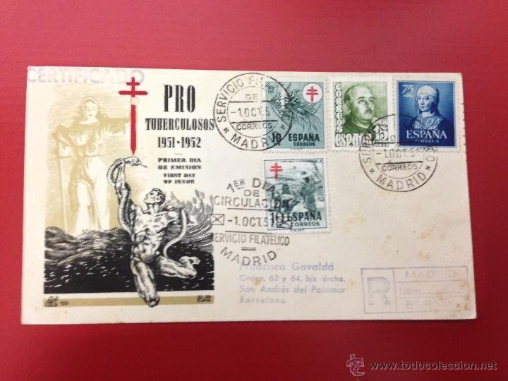CARTA CERTIFICADA 1951 SPD MADRID (Sellos - España - II Centenario De 1.950 a 1.975 - Cartas)