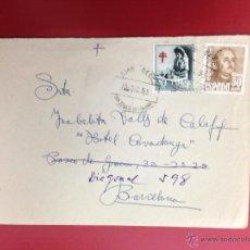 Sellos: CARTA AMBULANTE SAN SEBASTIAN BILBAO 1953 HOTEL COVADONGA BARCELONA DESDE VIZCAYA. Lote 49886214