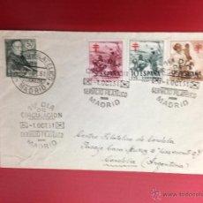 Sellos: CARTA SPD 1951 DE MADRID A CENTRO FILATELICO DE CORDOBA ARGENTINA. Lote 49886271