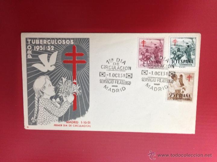 CARTA SPD 1951 PROTUBERCULOSOS (Sellos - España - II Centenario De 1.950 a 1.975 - Cartas)