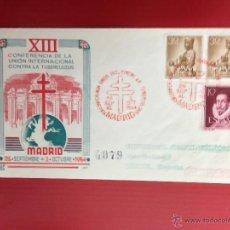 Sellos: CARTA SPD CONFERENCIA INTERNACIONAL CONTRA LA TUBERCULOSIS 1954 CERTIFICADA A LERIDA. Lote 49886298