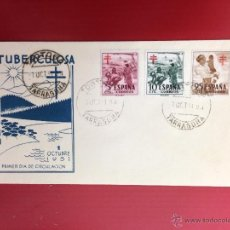 Sellos: CARTA SPD 1951 LUCHA ANTITUBERCULOSA TORTOSA. Lote 49886304