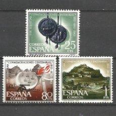 Sellos: ESPAÑA CENTENARIO SAN SEBASTIAN EDIFIL NUM. 1516/8 ** SERIE COMPLETA SIN FIJASELLOS. Lote 194262522