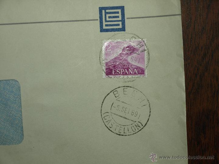 Sellos: SOBRE CIRCULADO. MATASELLOS 5 SET 1969. BECHIAZUL SA. INDUSTRIA CERAMICA BECHI. 22 X 11, 5 CM. - Foto 3 - 50810558