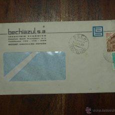 Sellos: SOBRE CIRCULADO. MATASELLOS 17 JUL 1969.BECHIAZUL SA. INDUSTRIA CERAMICA BECHI. 22 X 11,5 CM. . Lote 50811017