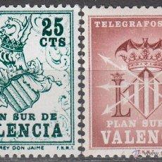 Sellos: VALENCIA EDIFIL Nº 1/2, ESCUDO DE JAIME I Y TELEGRAFOS, NUEVO *** . Lote 50893887
