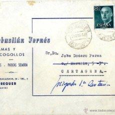 Sellos: ALICANTE-MURCIA SOBRE CIRCULADO FORNES S. PEDREGUER ALICANTE AÑO 1958 . Lote 51007804