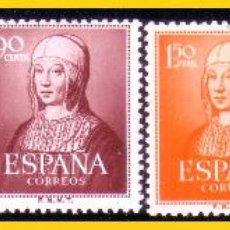 Sellos: 1951 V CENTENARIO DEL NACIMIENTO DE ISABEL, EDIFIL Nº 1092 A 1096 * *. Lote 51066946