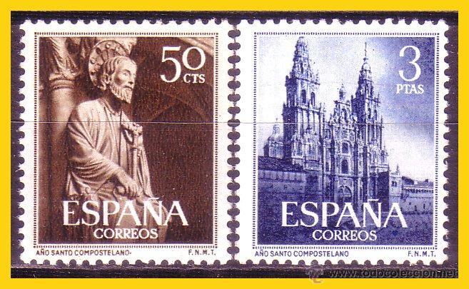 1954 AÑO SANTO COMPOSTELANO, EDIFIL Nº 1130 Y 1131 * * LUJO (Sellos - España - II Centenario De 1.950 a 1.975 - Nuevos)