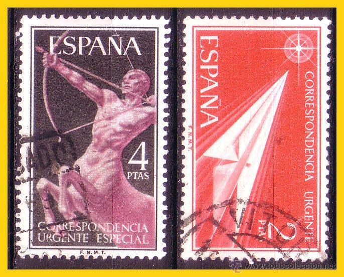 1956 ALEGORÍAS, EDIFIL Nº 1185 Y 1186 (O) (Sellos - España - II Centenario De 1.950 a 1.975 - Usados)