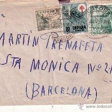 Sellos: F12-7-CARTA TORTOSA- BARCELONA 1951 TUBERCULOSOS FRANQUEO INDEBIDO. Lote 51324342