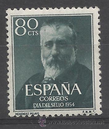 MENENDEZ PELAYO 1954 EDIFIL 1142 NUEVO* VALOR 2015 CATALOGO 5.25 EUROS (Sellos - España - II Centenario De 1.950 a 1.975 - Nuevos)