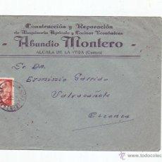 Sellos: 1965, SOBRE CIRCULADO - REPARACIÓN DE MAQUINARIA AGRÍCOLA Y COCINAS ECONOMICAS - ABUNDIO MONTERO. Lote 51476714
