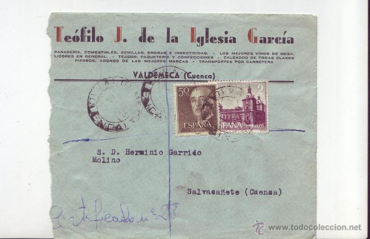1963 SOBRE CIRCULADO - TEOFILO J. DE LA IGLESIA GARCIA - VALDEMECA (CUENCA) (Sellos - España - II Centenario De 1.950 a 1.975 - Cartas)