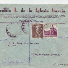 Sellos: 1963 SOBRE CIRCULADO - TEOFILO J. DE LA IGLESIA GARCIA - VALDEMECA (CUENCA). Lote 51476788
