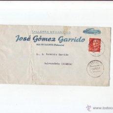 Sellos: 1964 - SOBRE CIRCULADO, TALLERES MECÁNICOS - JOSÉ GOMEZ GARRIDO - MAS DE JACINTO (VALENCIA). Lote 51477896