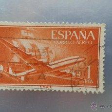 Sellos: EDIFIL 1172. AÑO 1955. PERTENECE A LA SERIE SUPER CONSTELLATION Y NAO SANTA MARIA. Lote 51670679