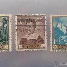 Sellos: EDIFIL 1421, 1422 Y 1423. SERIE FRANCISCO DE ZURBARAN.1962. Lote 51703619