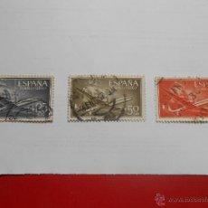 Sellos: SUPERCONSTELLATION Y NAO SANTA MARIA 1955/56. Lote 51785663