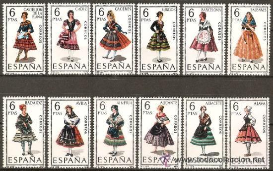 ESPAÑA TRAJES REGIONALES EDIFIL 1767/78 ** SERIE COMPLETA SIN FIJASELLOS (Sellos - España - II Centenario De 1.950 a 1.975 - Nuevos)