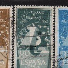 Briefmarken - ESPAÑA . nº Ed 1180/82 º USADO año 1955 . I centenario del telégrafo - 51795904