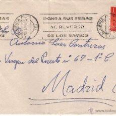 Selos: CARTA DE ALMERÍA A MADRID EL 3-SEP-64. Lote 52101386