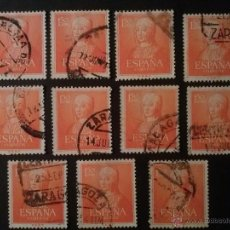 Sellos: EDIFIL 1095, 11 SELLOS USADOS, PERFECTOS. Lote 52111783