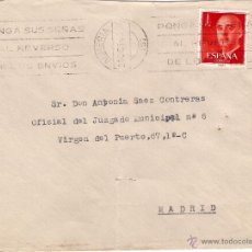 Sellos: CARTAS (2) DE ALMERÍA A MADRID , EL AÑO 1963. Lote 52670812