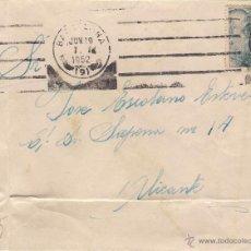 Sellos: CARTA DE BARCELONA A ALICANTE, EL 19-6-52. Lote 52723231
