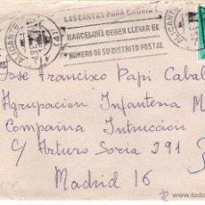 Sellos: SOBRE CON CARTA DE ALICANTE A MADRID , EL 4-9-67. Lote 52723449
