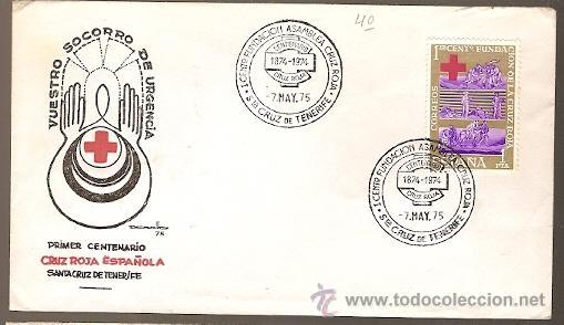 ESPANA & FDC CENTENARIO CRUZ ROJA, TENERIFE, ISLAS CANARIAS 1975 (1534) (Sellos - España - II Centenario De 1.950 a 1.975 - Cartas)