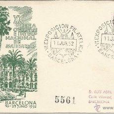 Sellos: ESPAÑA - 1952 - PRIMER DIA DE CIRCULACION. XX FERIA OPCIONAL E INTERNACIONAL DE MUESTRAS. . Lote 52843133