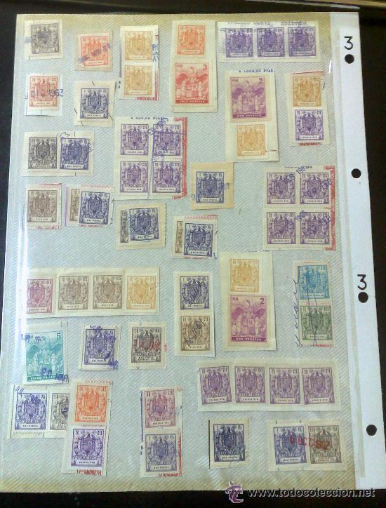 CIRCA 1962-1965. HOJA CON 55 PÓLIZAS DIFERENTES DE LA ÉPOCA. (Sellos - España - II Centenario De 1.950 a 1.975 - Usados)