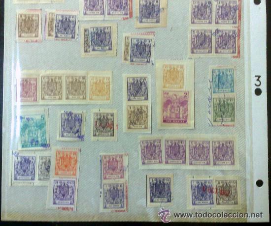 Sellos: CIRCA 1962-1965. HOJA CON 55 PÓLIZAS DIFERENTES DE LA ÉPOCA. - Foto 4 - 29870709