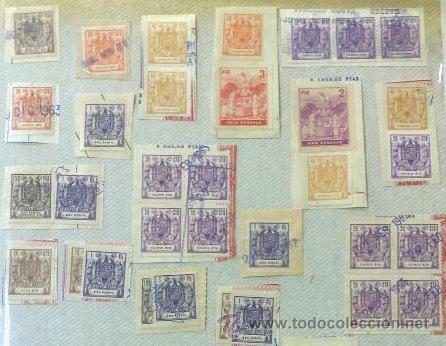 Sellos: CIRCA 1962-1965. HOJA CON 55 PÓLIZAS DIFERENTES DE LA ÉPOCA. - Foto 5 - 29870709