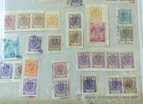 Sellos: CIRCA 1962-1965. HOJA CON 55 PÓLIZAS DIFERENTES DE LA ÉPOCA. - Foto 8 - 29870709