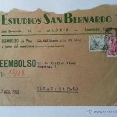 Sellos: CARTA ,DE MADRID 1950 ,PUBLICIDAD,REEMBOLSO CERTIFICADO SELLOS DETRAS. Lote 53742475