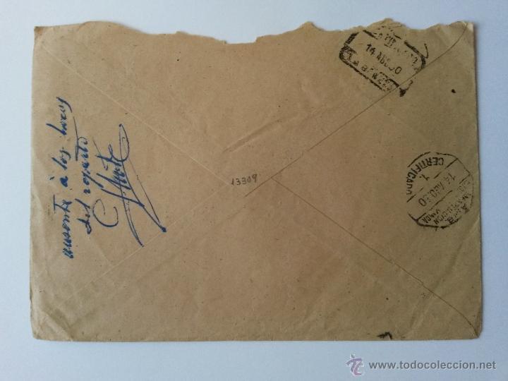 Sellos: Carta ,de madrid 1950 ,publicidad,reembolso certificado sellos detras - Foto 2 - 53742475