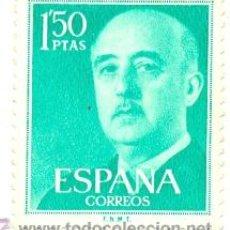 Sellos: 1U-1155. SELLO USADO ESPAÑA. EDIFIL Nº 1155. GENERAL FRANCO. Lote 54206801