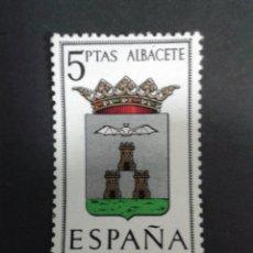 """Sellos: ESPAÑA EDIFIL 1407IT. VARIEDAD """"A DE ALBACETE ACENTUADA"""". NUEVO CON CHARNELA. ESCUDOS. Lote 54211715"""